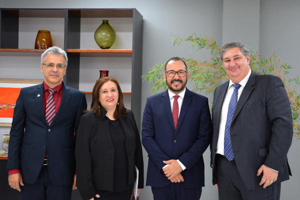 Presidente do TRT20 recebe visita do novo superintendente estadual do Banco do Brasil